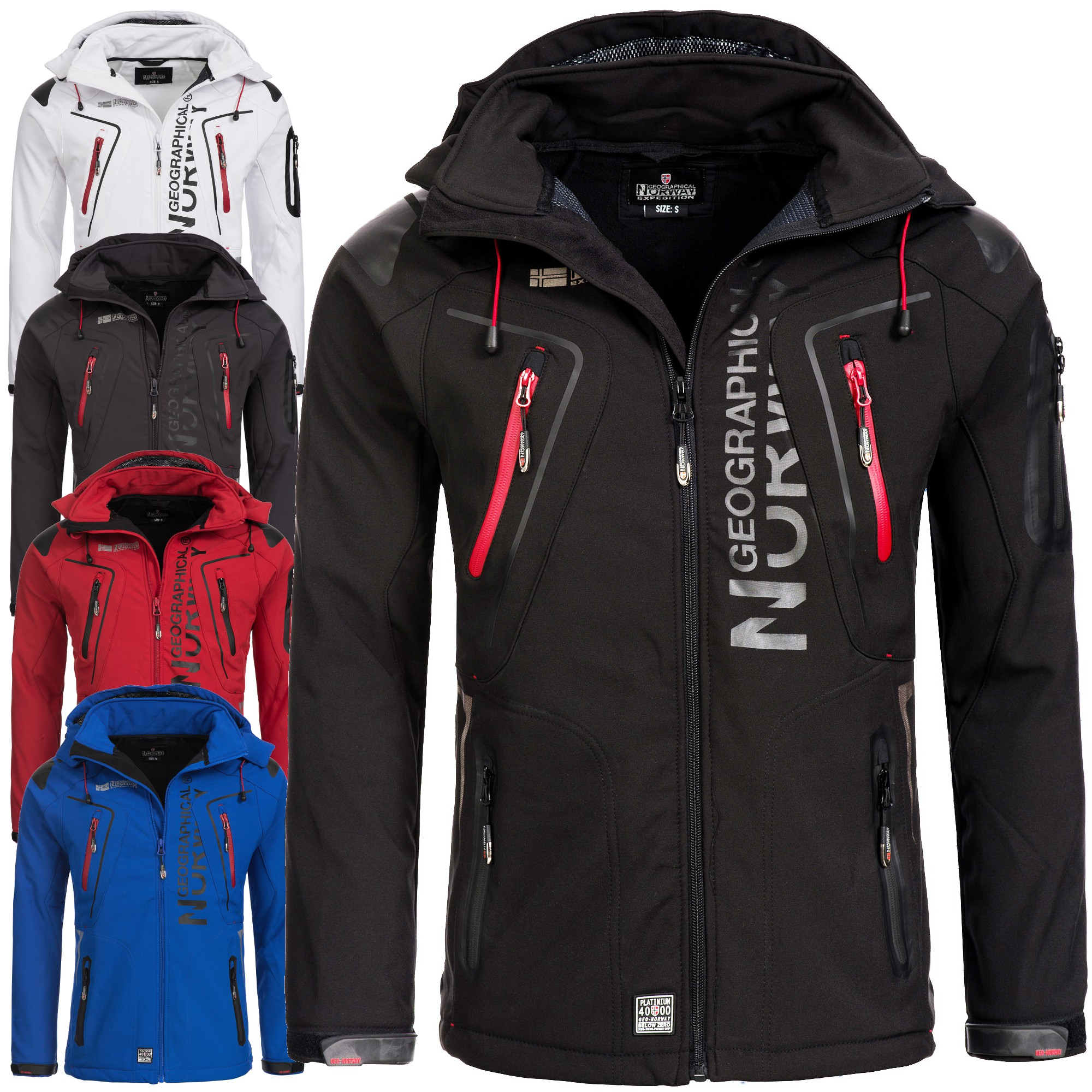 geographical norway tangata herren softshell jacke softshelljacke s xxl ebay. Black Bedroom Furniture Sets. Home Design Ideas