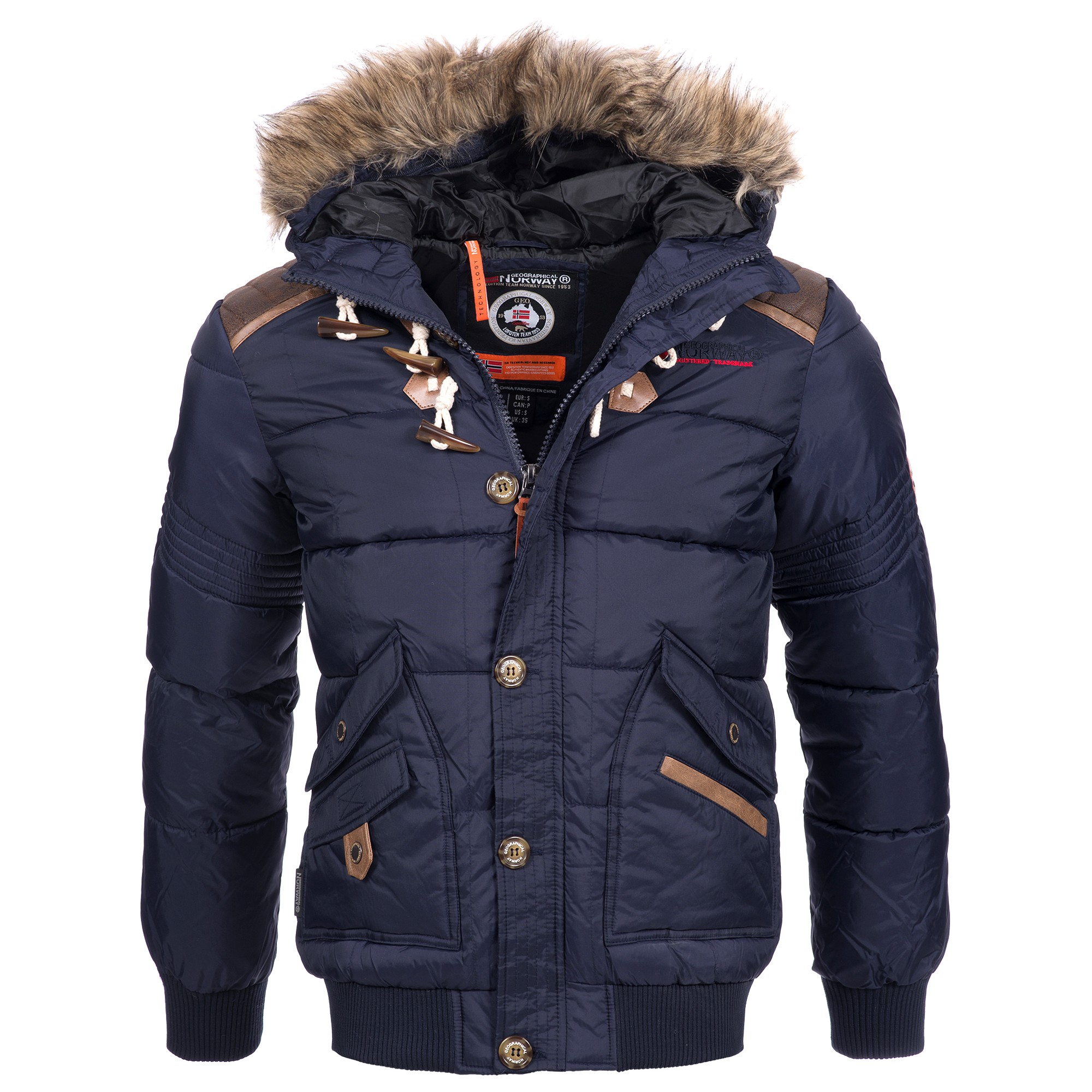 geographical norway belphegore herren winterjacke jacke. Black Bedroom Furniture Sets. Home Design Ideas