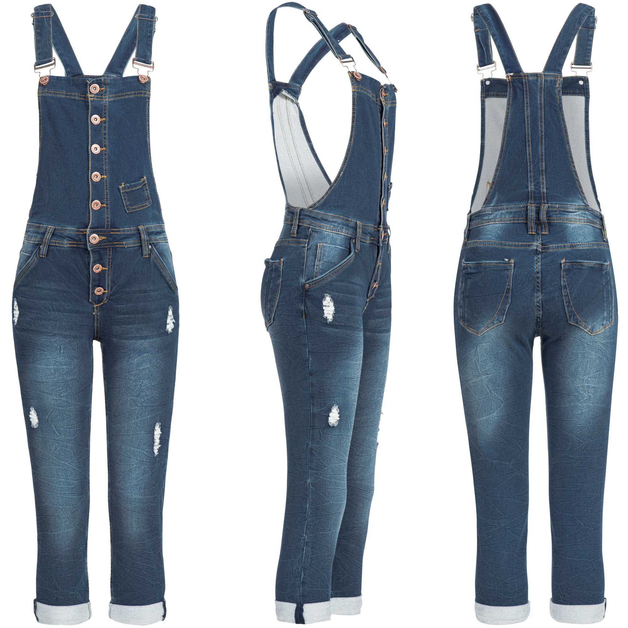 rock angel damen jeans hose skinny latzhose overall. Black Bedroom Furniture Sets. Home Design Ideas