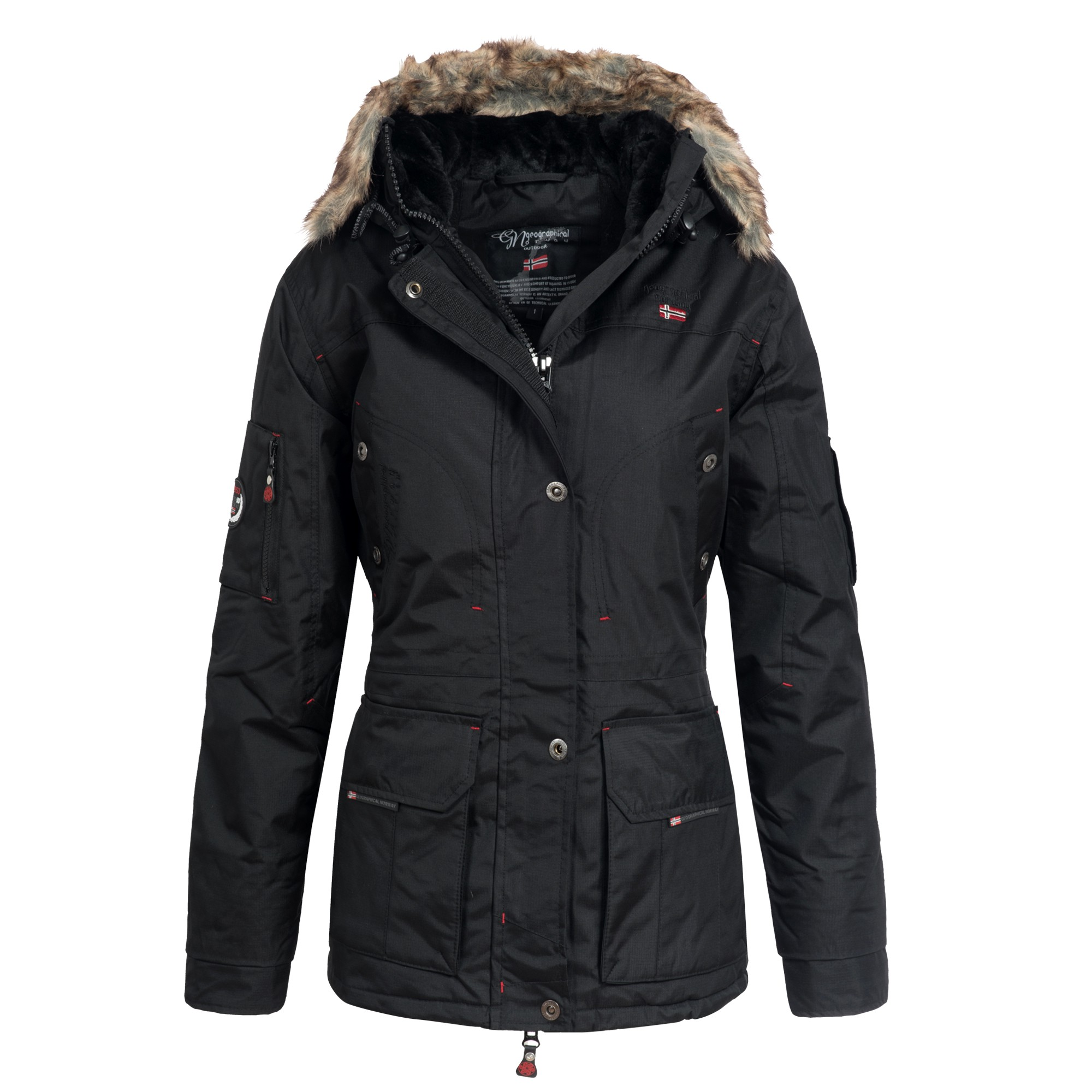 geographical norway alaska damen winterjacke jacke parka. Black Bedroom Furniture Sets. Home Design Ideas