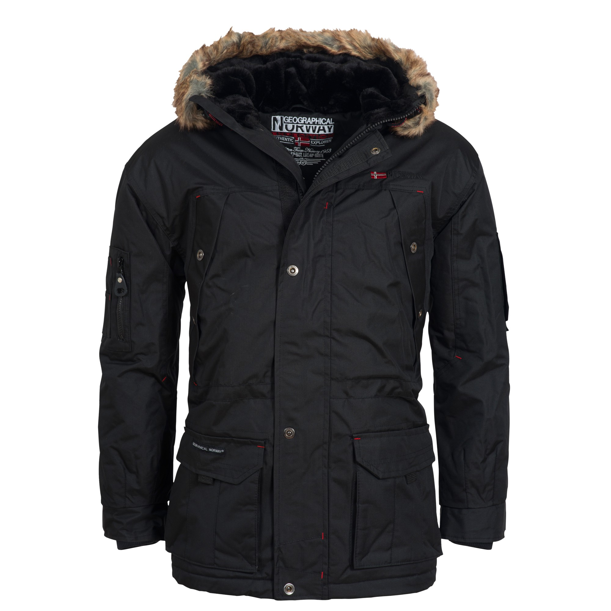 geographical norway atlas herren winterjacke jacke parka. Black Bedroom Furniture Sets. Home Design Ideas