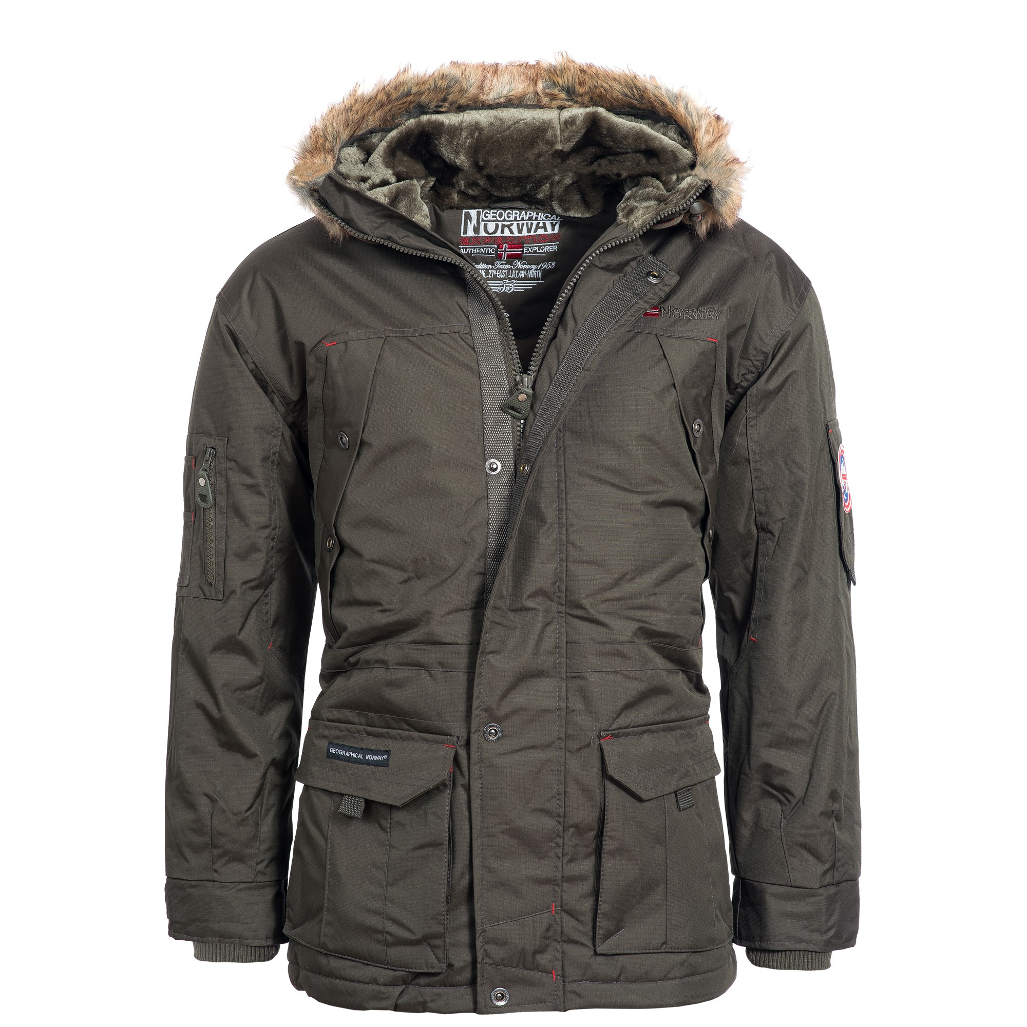 geographical norway atlas herren winterjacke jacke parka gr s xxxl alaska ebay. Black Bedroom Furniture Sets. Home Design Ideas