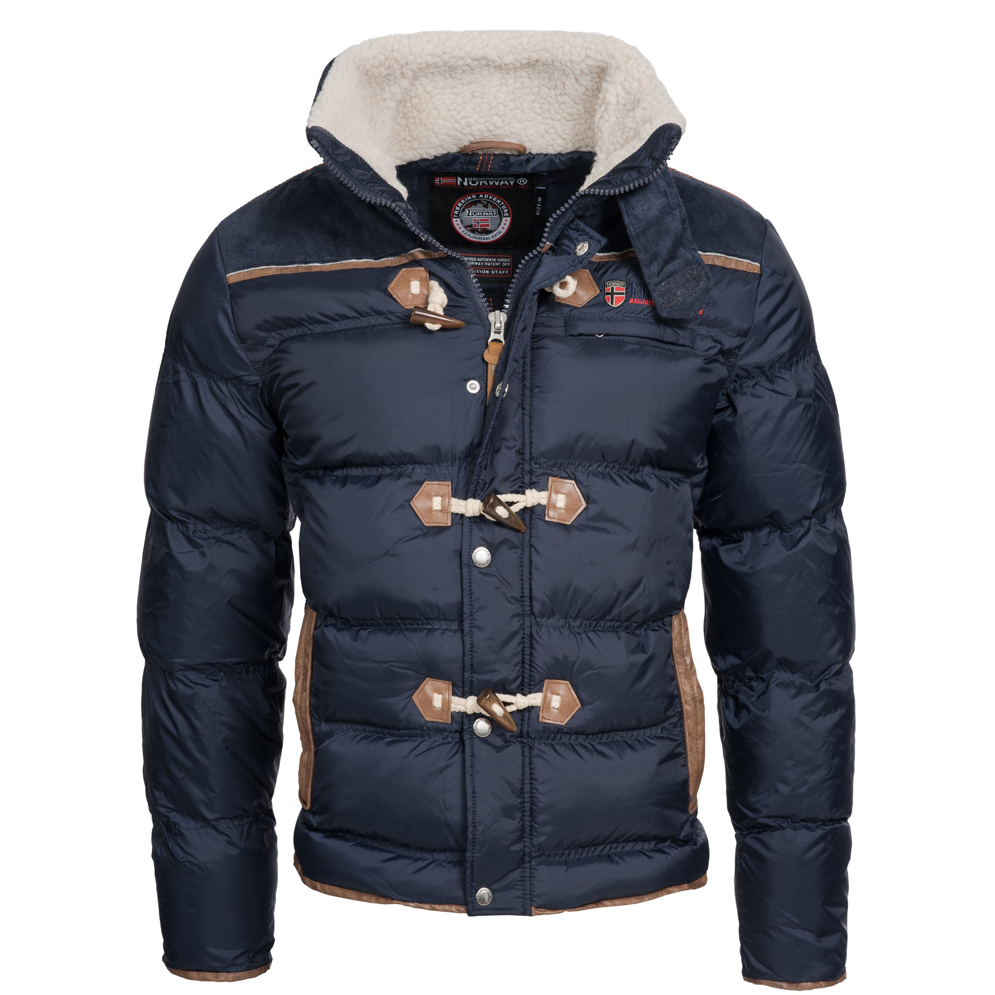 herren jacke steppjacke winterjacke geographical norway navy modische jacken dieser saison. Black Bedroom Furniture Sets. Home Design Ideas