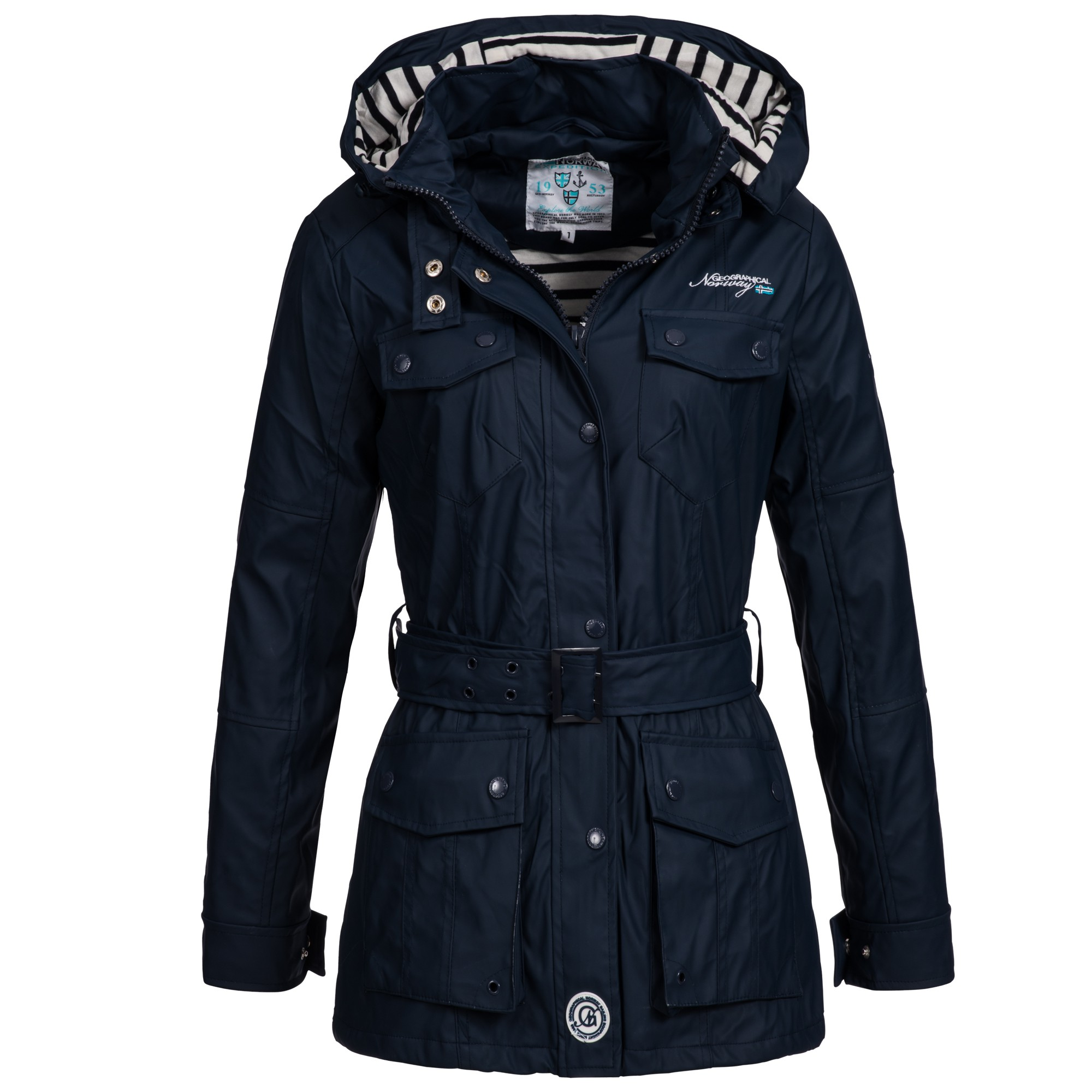 geographical norway amanda damen bergangsjacke regen jacke mantel trenchcoat ebay. Black Bedroom Furniture Sets. Home Design Ideas