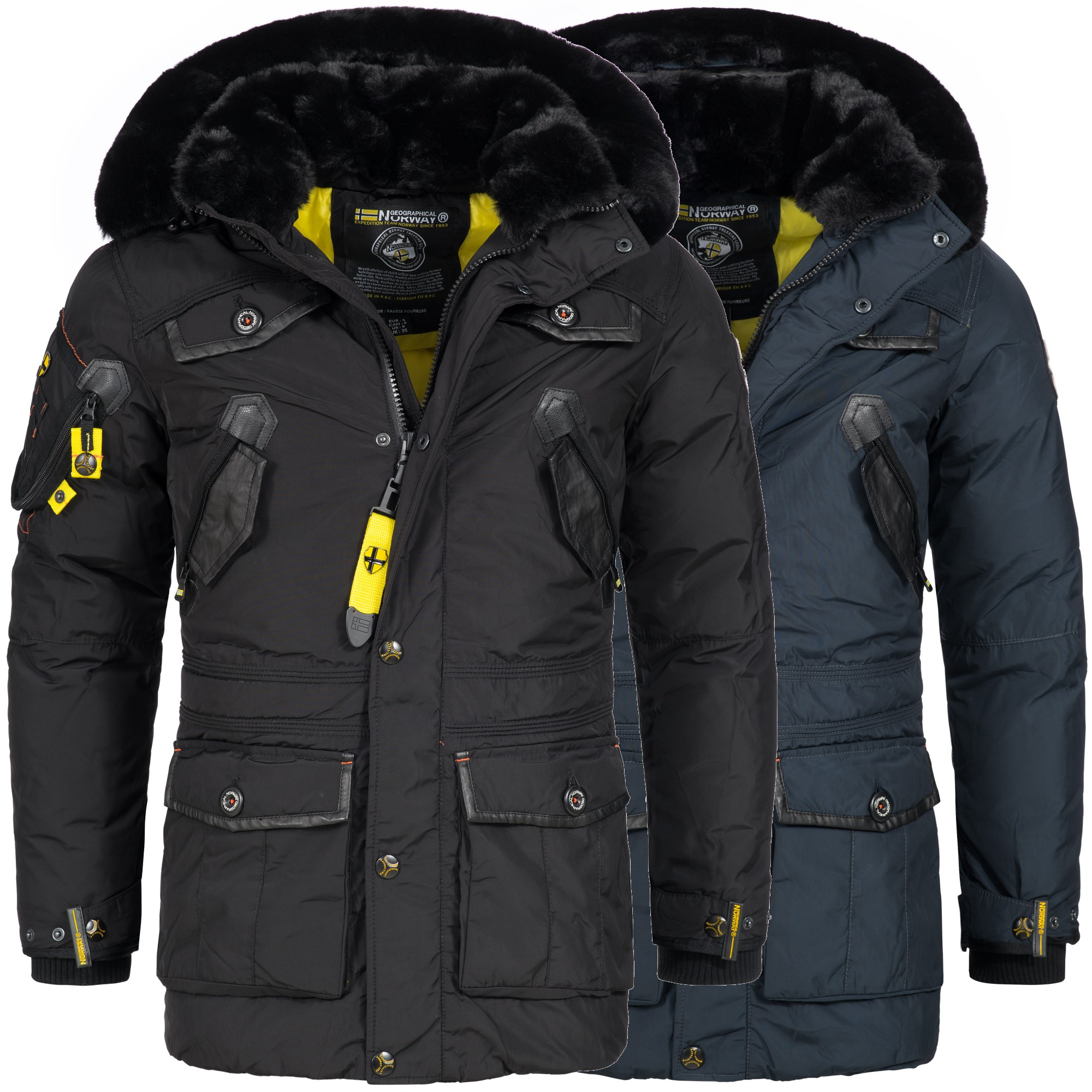 geographical norway acore herren luxus winterjacke parka ski jacke warm s xxxl ebay. Black Bedroom Furniture Sets. Home Design Ideas