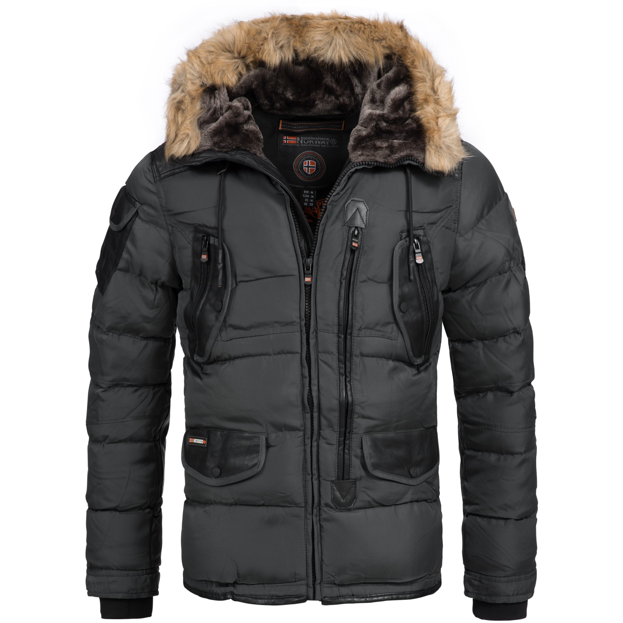 geographical norway buckleberry herren luxus winterjacke parka ski warm s xxxl ebay. Black Bedroom Furniture Sets. Home Design Ideas