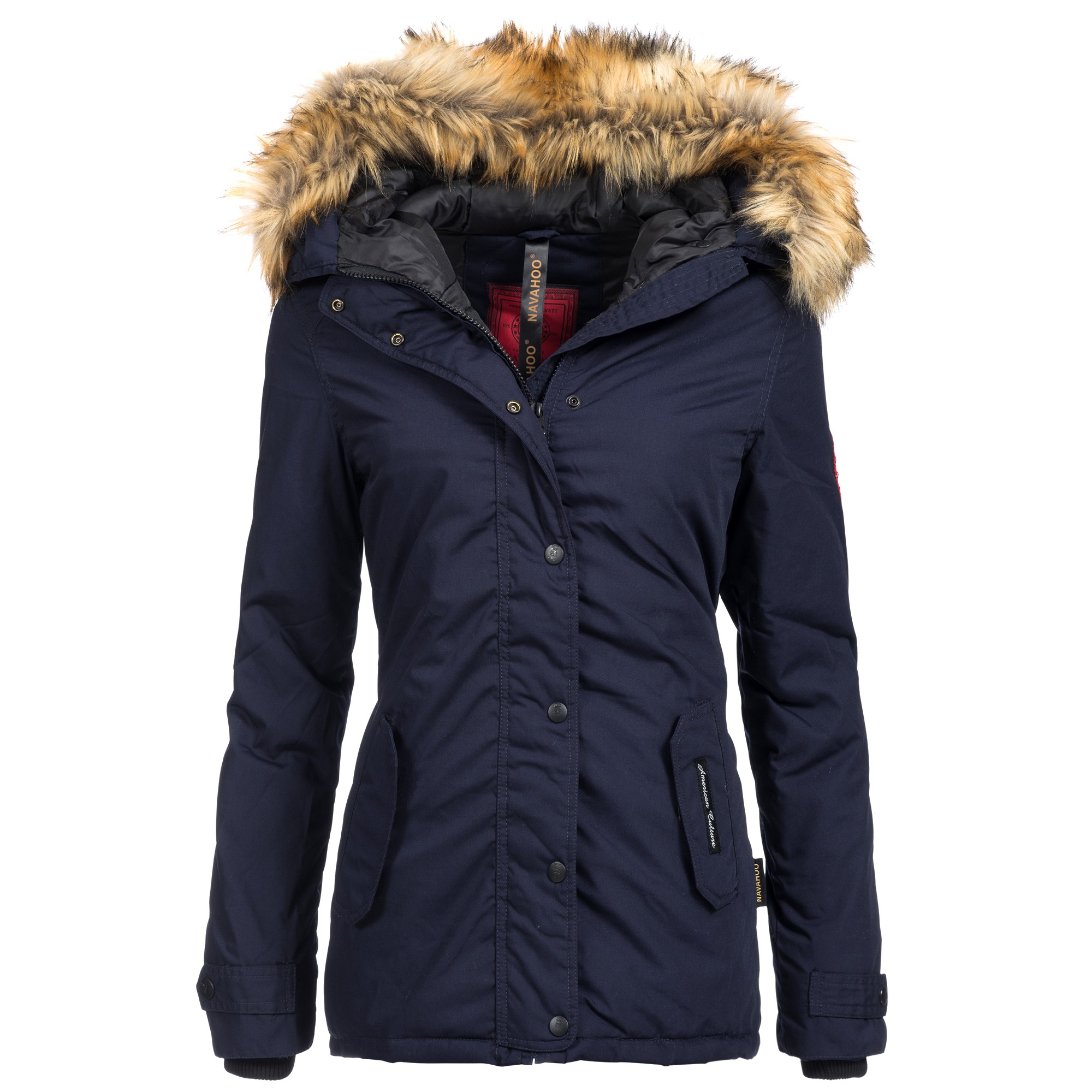 navahoo laura damen jacke parka mantel winterjacke kapuze super warm xs xxl ebay. Black Bedroom Furniture Sets. Home Design Ideas