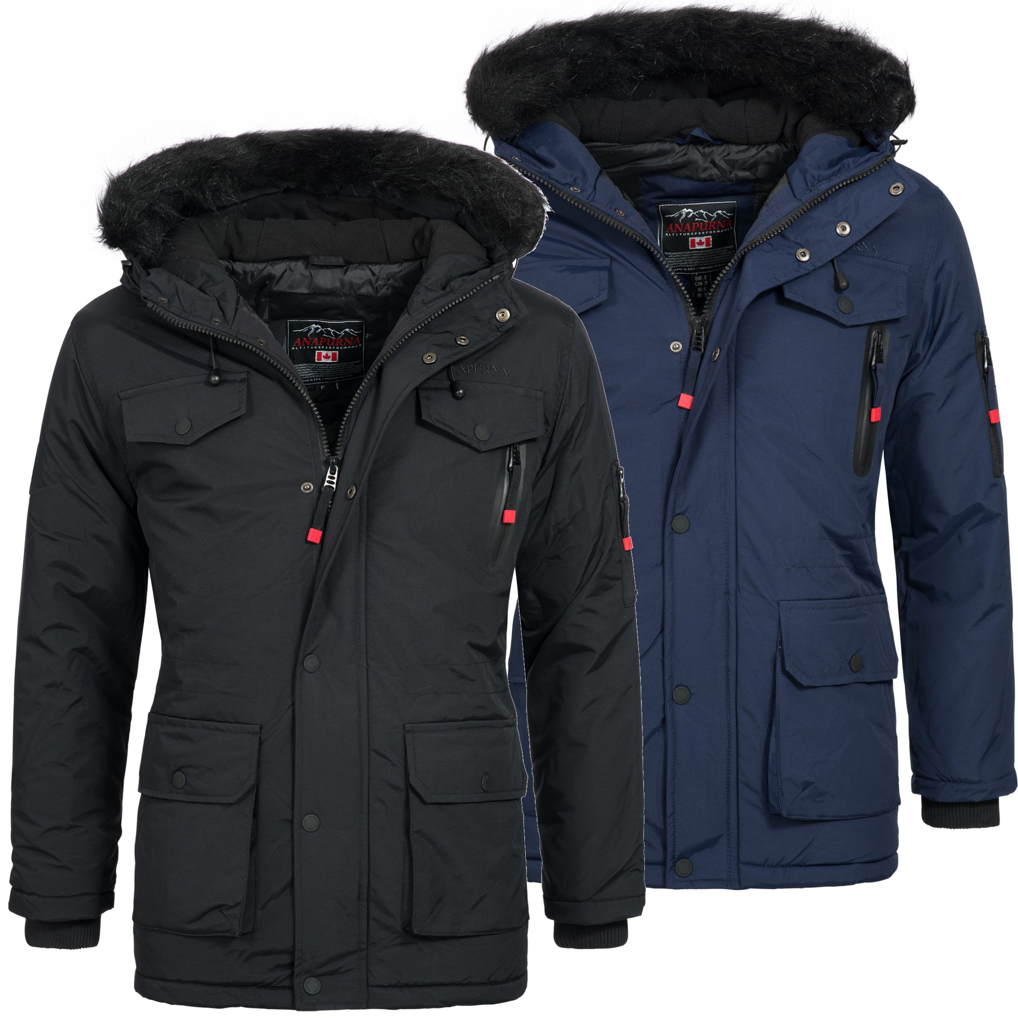 geographical norway alos herren winterjacke jacke parka mantel warm gef ttert ebay. Black Bedroom Furniture Sets. Home Design Ideas