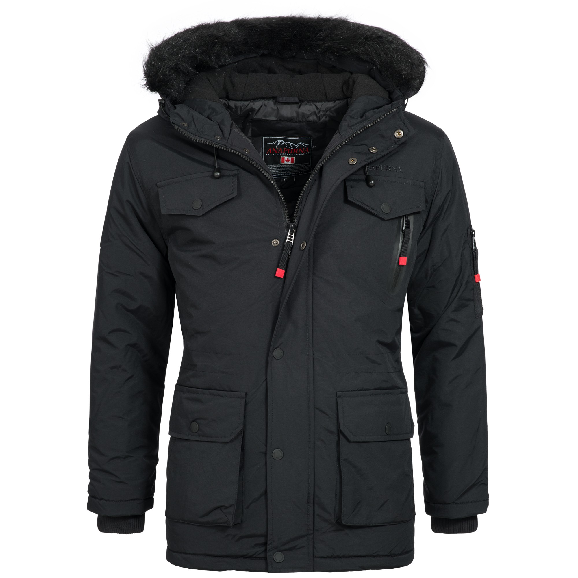 geographical norway alos herren winterjacke jacke parka mantel warm gef ttert gr s xxxl herren. Black Bedroom Furniture Sets. Home Design Ideas