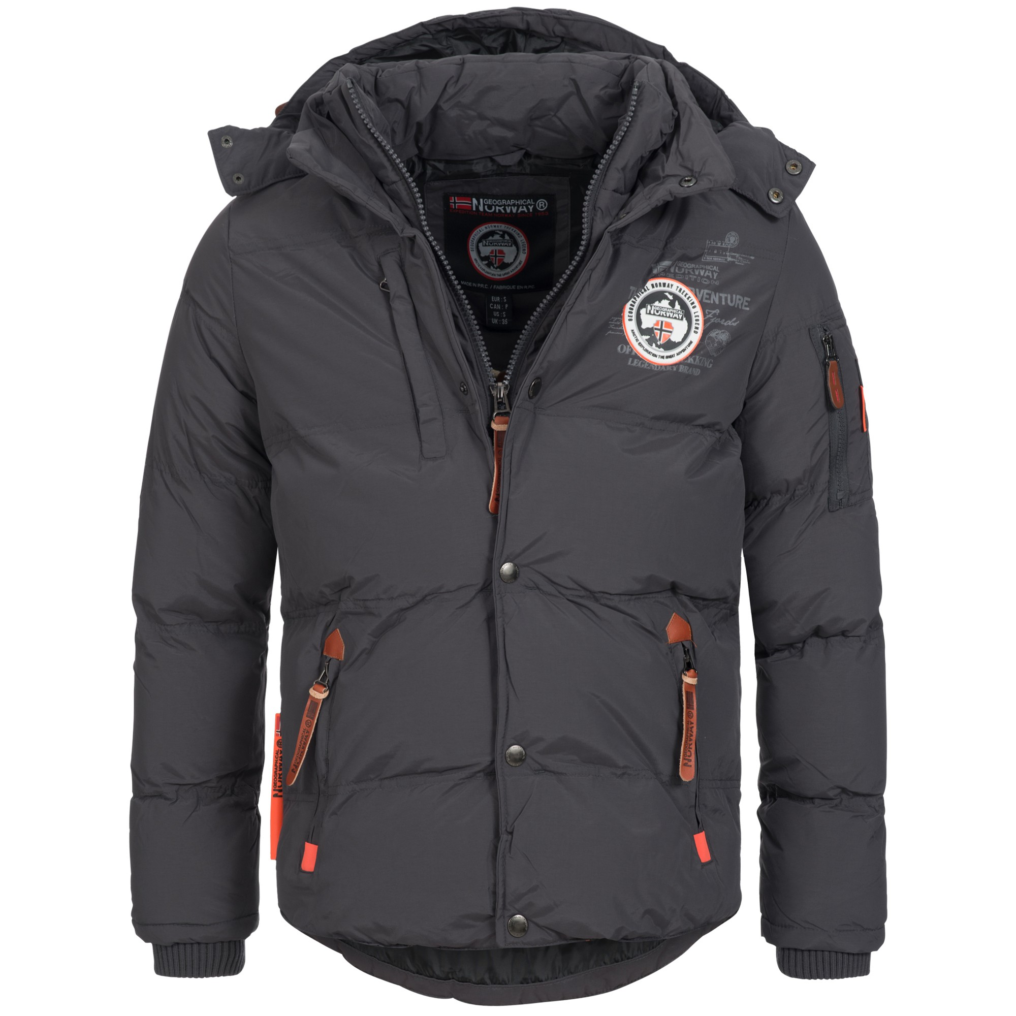 geographical norway venise herren winterjacke jacke outdoor warm gef ttert ebay. Black Bedroom Furniture Sets. Home Design Ideas