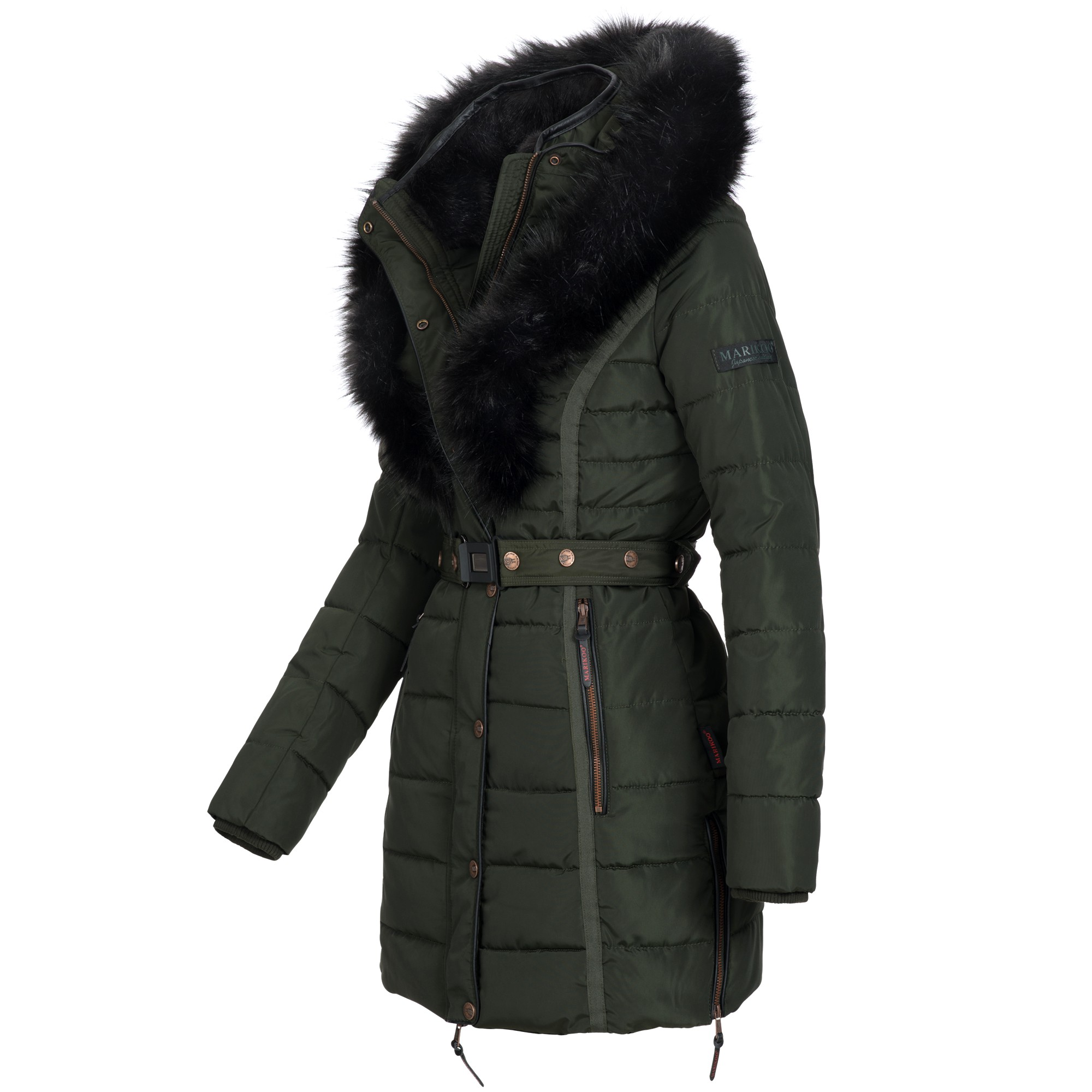 marikoo turnam damen mantel jacke steppjacke winterjacke warm gef ttert xs xxl ebay. Black Bedroom Furniture Sets. Home Design Ideas