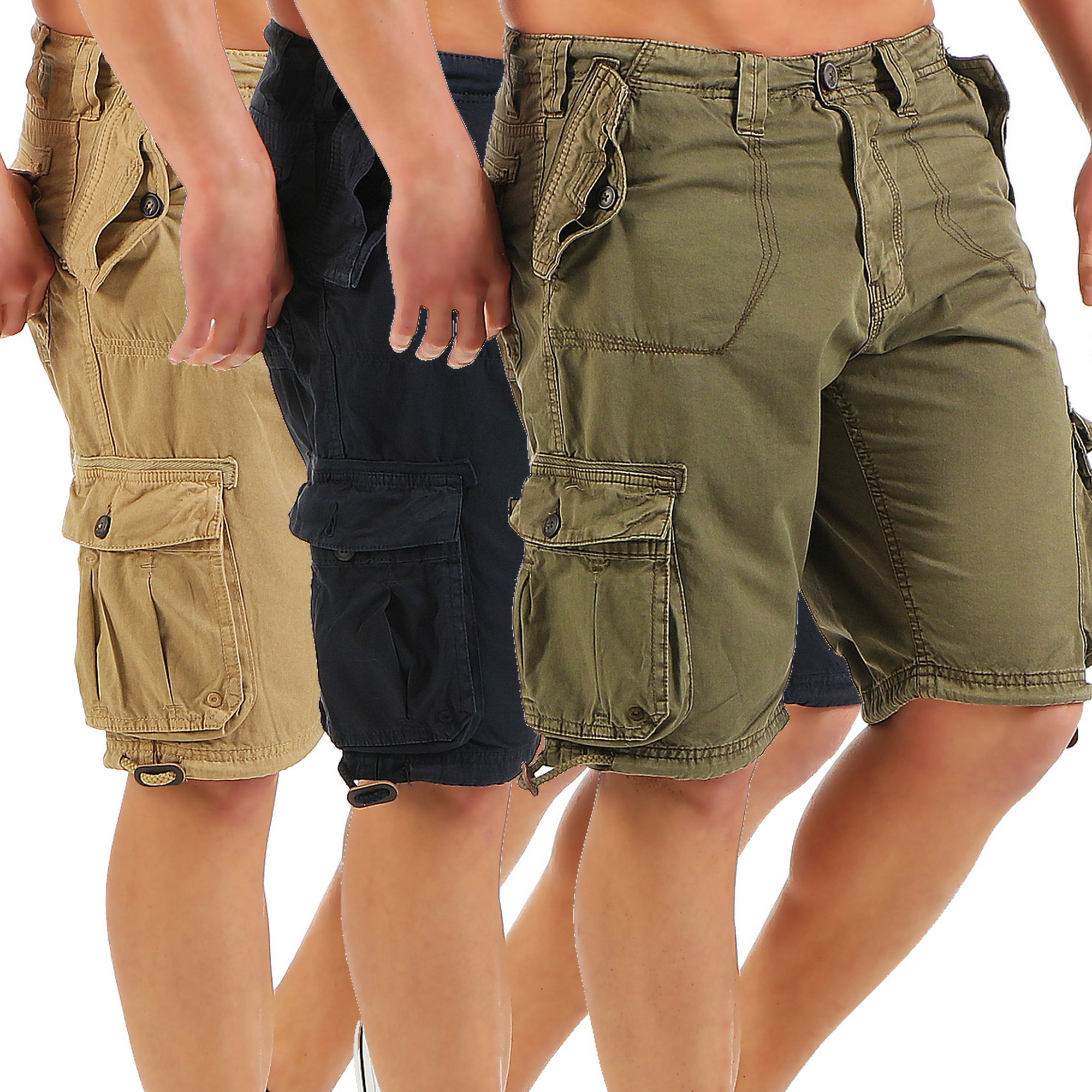 ausnahme zustand herren cargo shorts kurze hose bermuda s. Black Bedroom Furniture Sets. Home Design Ideas