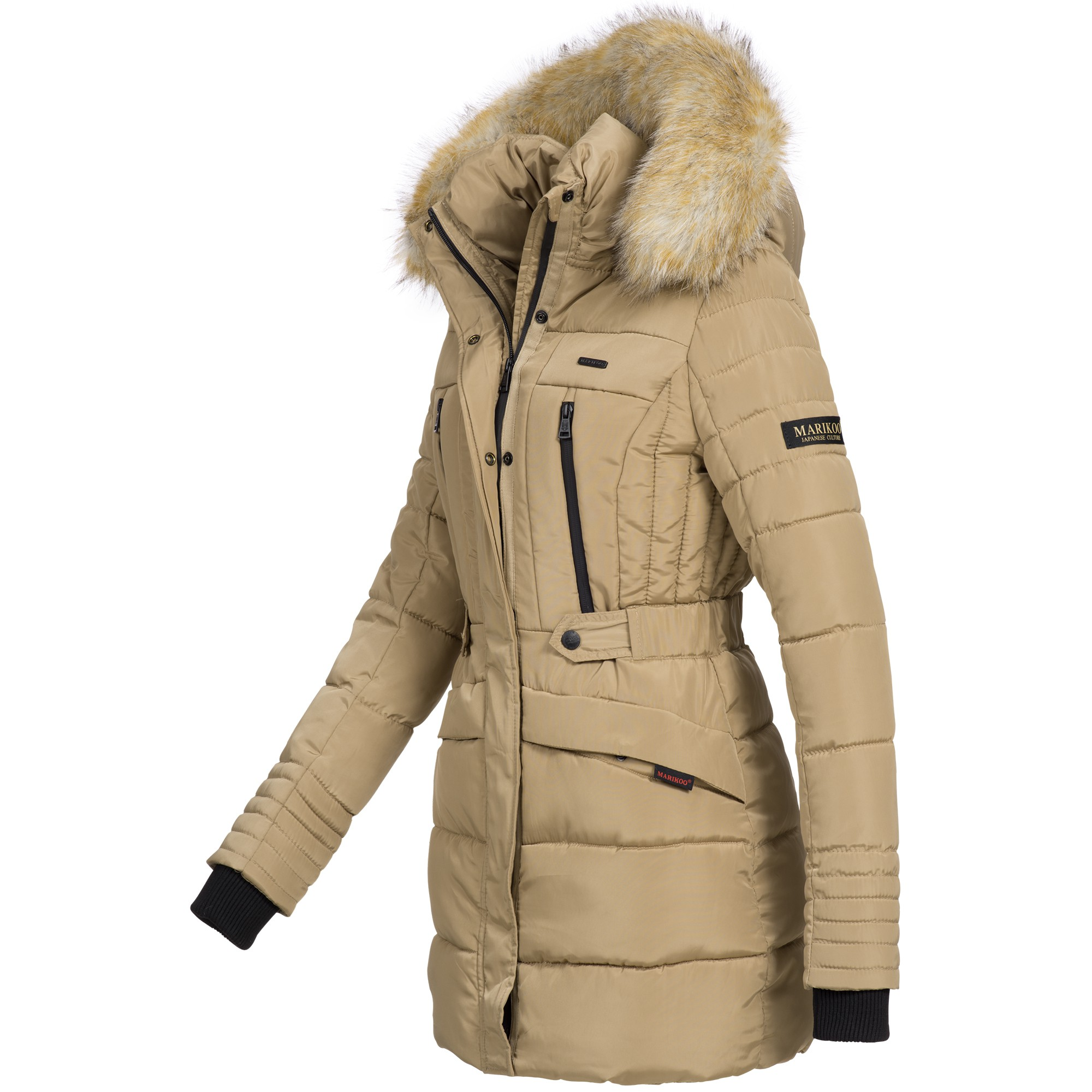 marikoo nova damen mantel wintermantel steppjacke winter jacke lang xs xxl ebay. Black Bedroom Furniture Sets. Home Design Ideas