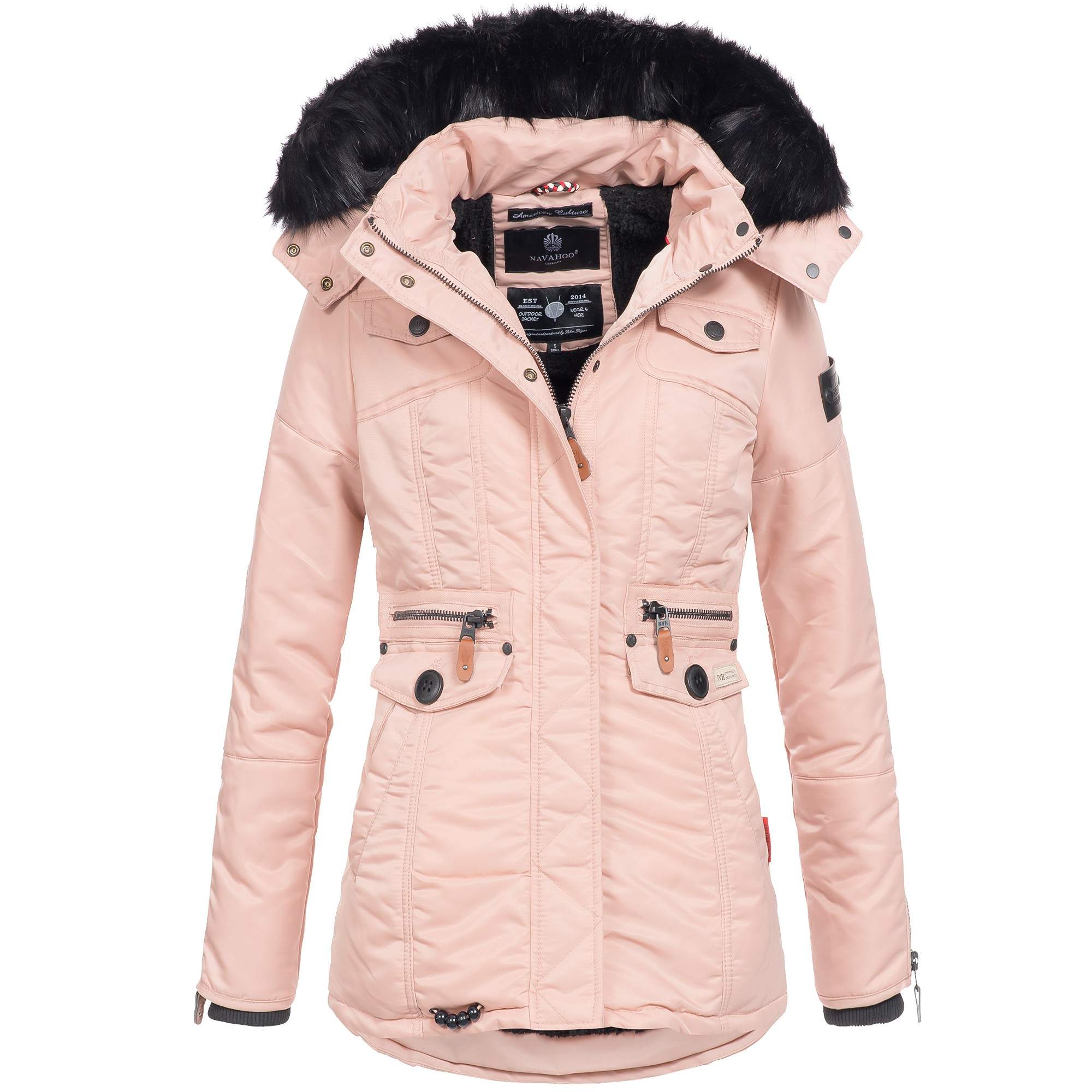 navahoo schaetzchen damen jacke parka mantel winterjacke warm gef ttert xs xxl ebay. Black Bedroom Furniture Sets. Home Design Ideas