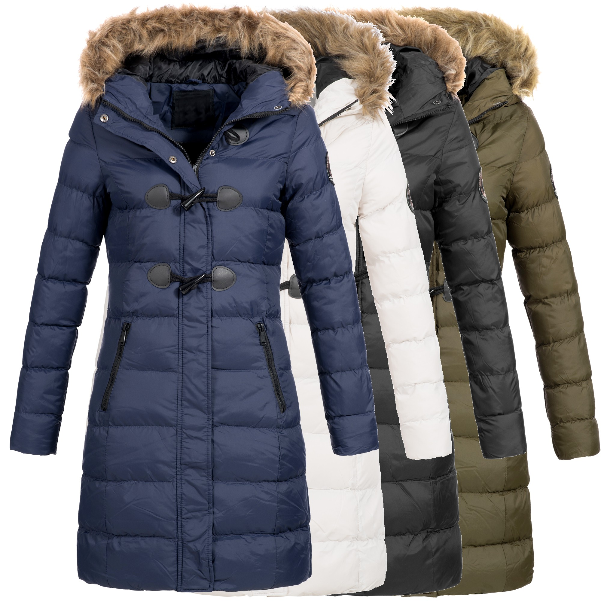 az fashion damen steppmantel winter mantel parka jacke warm s xxl az29 ebay. Black Bedroom Furniture Sets. Home Design Ideas