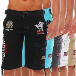 Geographical Norway PRINCER Short Bermuda Hose mit Gürtel S-XXL