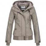 Sublevel Damen Herbst Winter Jacke Mantel Parka Outdoor Stepp Winterjacke 44261 XS-XL