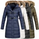 AZ-Fashion Damen Steppmantel Winter Mantel Parka Jacke warm S-XXL AZ29 4-Farben