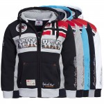 Geographical Norway FLYER Hoodie Sweatjacke Jacke Pullover Gr. S-XXL